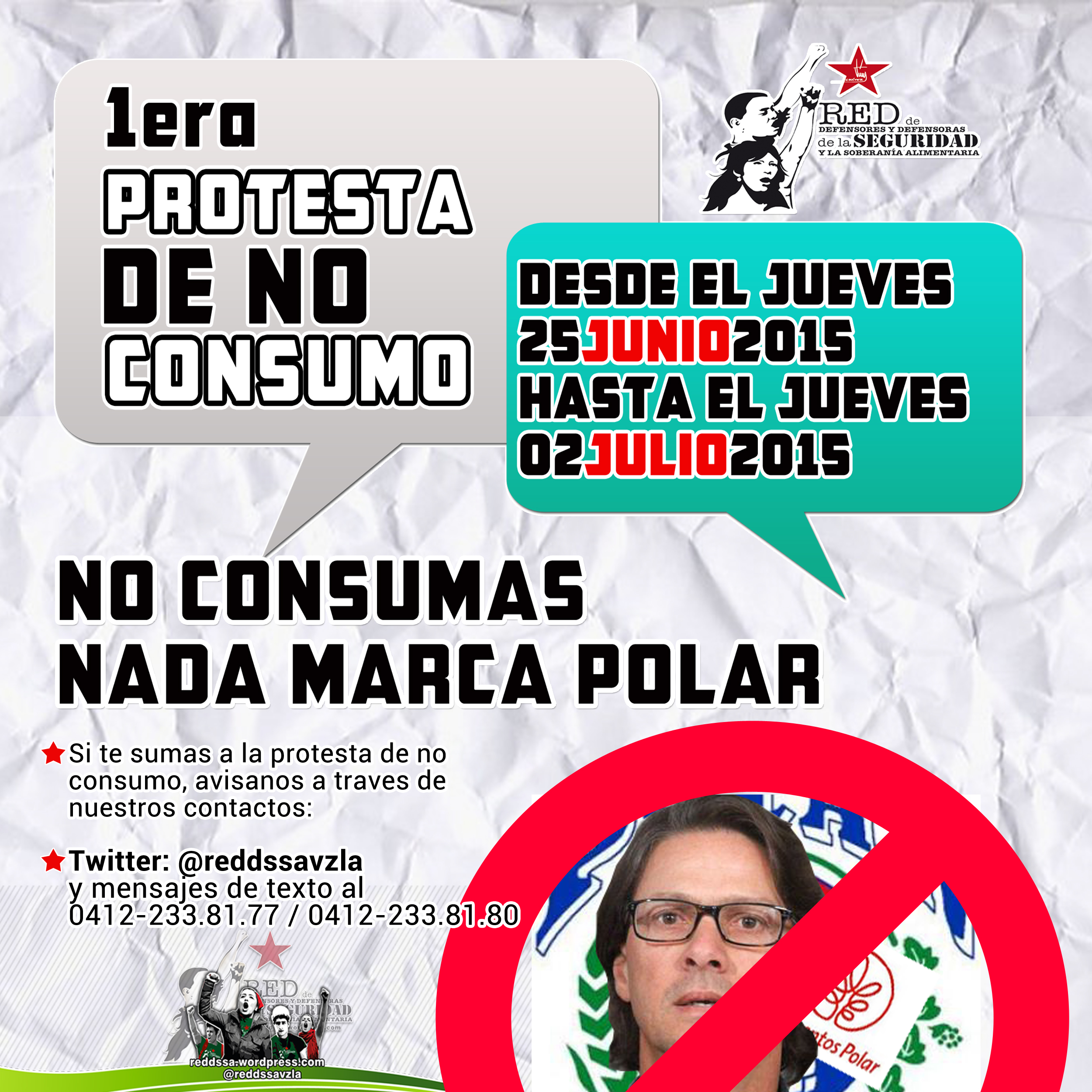 1era Protesta de NO Consumo de Productos Polar